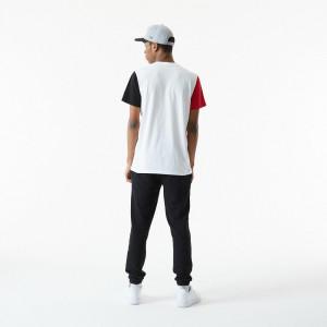New Era Colour Block Chicago Bulls T-Shirt ''White''