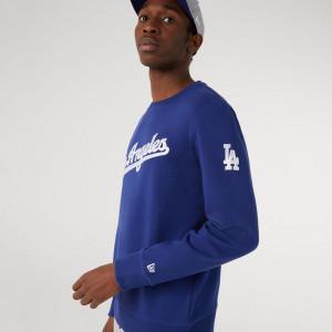 New Era LA Dodgers Script Crew Sweatshirt ''Blue''