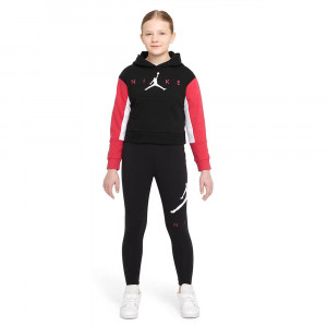 Air Jordan Jumpman Girls Hoodie ''Black/Red''