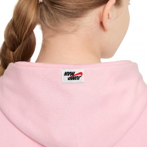 Air Jordan Jumpman Girls Hoodie ''Pink/Grey''