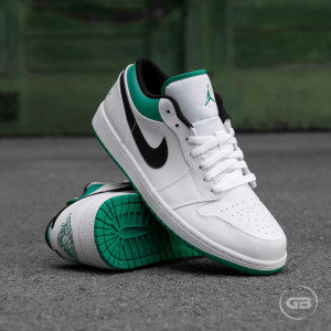 Air Jordan 1 Low ''White Lucky Green''