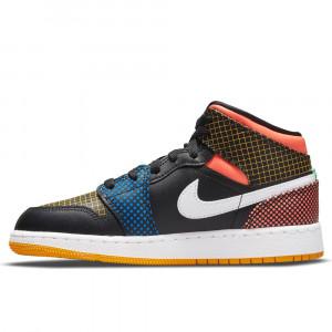 Air Jordan 1 Mid ''Multicolor Grid'' (GS)