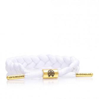 Rastaclat Zion II Braided Bracelet ''White/Gold''