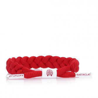 Rastaclat Fire Braided Bracelet ''Red White''