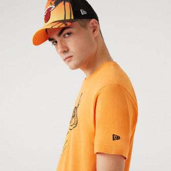 New Era Coastal Heat Infill Miami Heat T-Shirt ''Orange''