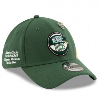 New Era NBA19 Draft Milwaukee Bucks 39Thirty Cap ''Green''