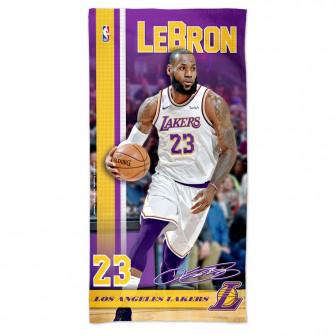 NBA Los Angeles Lakers Lebron James Towel ''Purple/Yellow''