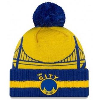 New Era NBA Golden State Warriors Hardwood Classic Knit ''Blue/Yellow''