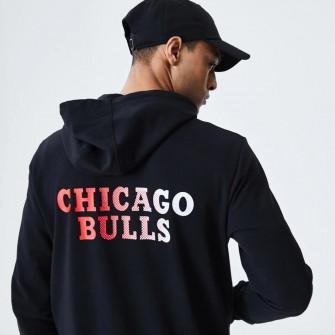New Era Chicago Bulls Gradient Wordmark Hoodie ''Black''