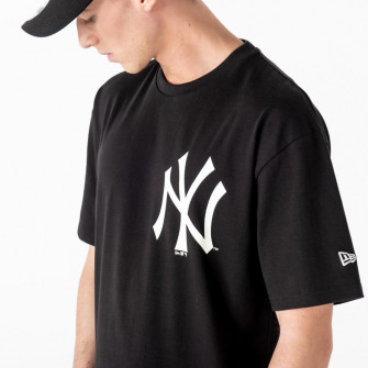 New Era MLB NY Yankees Big Logo Oversized T-Shirt ''Black''