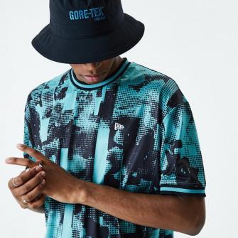 New Era Tech Print T-Shirt ''Blue''