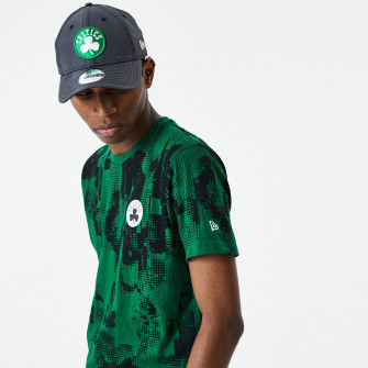 New Era NBA Boston Celtics All Over Error Print T-Shirt ''Green''