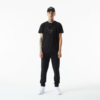 New Era Reflective Print Chicago Bulls T-Shirt ''Black''