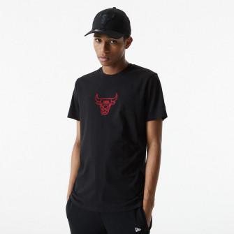 New Era Chain Stitch Chicago Bulls T-Shirt ''Black''