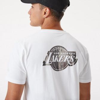 New Era NBA LA Lakers Metallic Logo T-Shirt ''White''