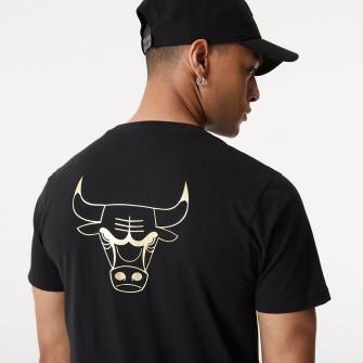 New Era NBA Chicago Bulls Metallic Logo T-Shirt ''Black''