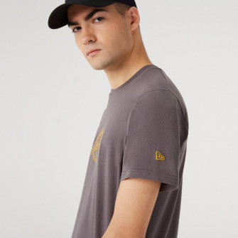New Era Chain Stitch Los Angeles Lakers T-Shirt ''Grey''