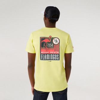 New Era MILB Miami Beach Flamingos Graphic T-Shirt ''Yellow''