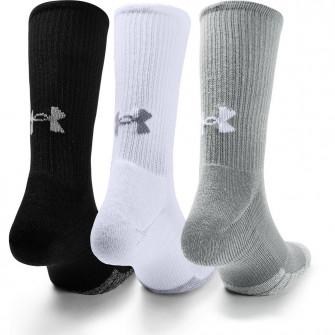 Under Armour HeatGear Crew Socks ''Black/Grey/White''