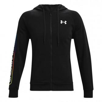 UA Rival Lockertag Full-Zip Fleece Hoodie ''Black''