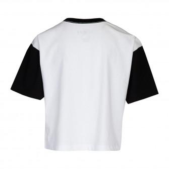Air Jordan Jumpman Air Rise Boxy Kids T-shirt ''White/Black''