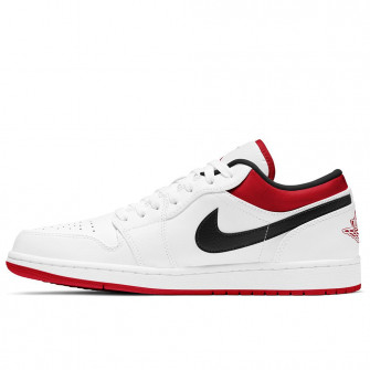 Air Jordan 1 Low ''White/University Red''