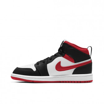 Air Jordan 1 Mid ''Black/White/Red'' (PS)