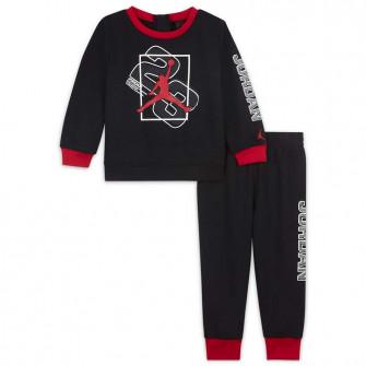 Air Jordan Next Utility Crew Baby Set 12-24M ''Black/Red''