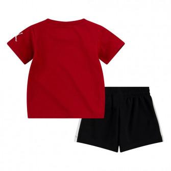 Air Jordan Court Graphic T-Shirt and Shorts set ''Black''