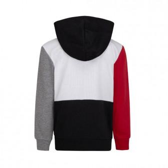 Air Jordan Jumpman Full-Zip Kids Hoodie ''White/Red/Black''
