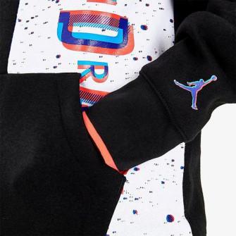 Air Jordan Space Glitch Fleece Kids Hoodie ''Black''