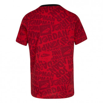 Air Jordan Jumpman Air All Over Print Kids T-Shirt ''Red''