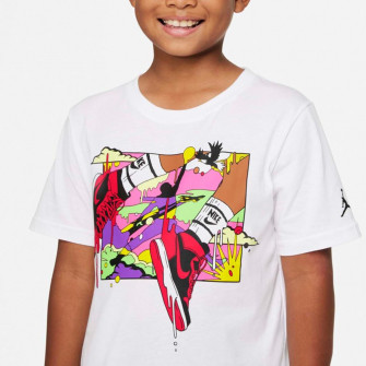 Air Jordan Wild Utility Patch Kids T-Shirt ''White''