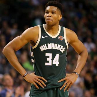 Dres Nike NBA Giannis Antetokounmpo Milwaukee Bucks Icon Swingman ''Away''