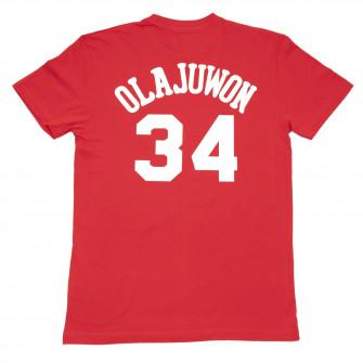 M&N NBA Houston Rockets Hakeem Olajuwon HWC Edition T-Shirt ''Red''
