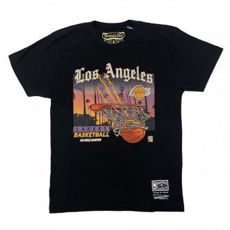 M&N NBA Los Angeles Lakers Scienic T-Shirt ''Black''