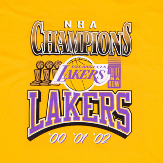 M&N 3x Champions Los Angeles Lakers T-Shirt ''Yellow''