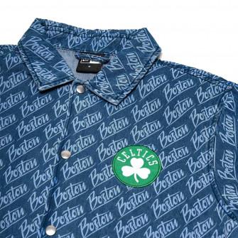 New Era NBA Boston Celtics Denim Coaches Jacket ''Blue''