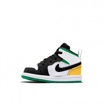Air Jordan 1 Mid SE ''White/Laser Orange/Black/Lucky Green'' (TD)
