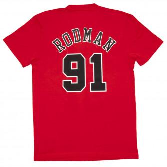 M&N NBA Chicago Bulls Dennis Rodman HWC Edition T-Shirt ''Red''