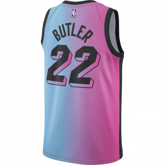 Nike NBA City Edition Miami Heat Jimmy Butler Jersey ''Lase Fuchsia/Blue Gale''