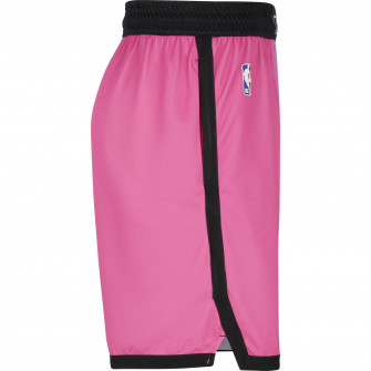 Nike NBA Miami Heat City Edition 2020 Swingman Shorts ''Laser Fuchsia/Blue Gale''