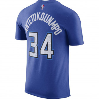 Nike NBA City Edition Milwaukee Bucks Giannis Antetokounmpo T-Shirt ''Game Royal''