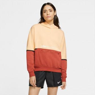 Nike Sportswear Archive Remix WMNS Hoodie ''Orange Chalk/Firewood Orange''