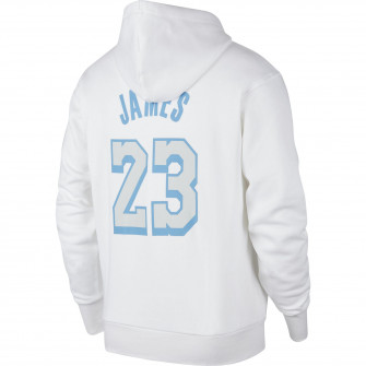 Nike NBA City Edition Logo Los Angeles Lakers LeBron James Hoodie ''White''
