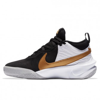 Nike Team Hustle D 10 FlyEase ''Black/Metalic Gold'' (GS)
