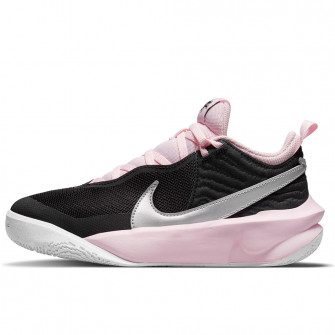 Nike Team Hustle D 10 FlyEase ''Black/Metalic Silver/Pink Foam'' (GS)