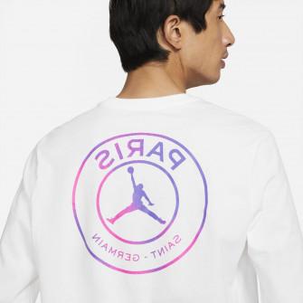 Air Jordan Paris Saint-Germain Long-Sleeve Shirt ''White/Purple''