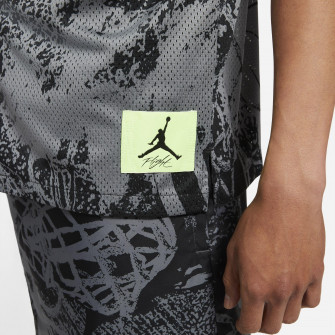 Air Jordan Flight Printed Button Down Shirt ''Grey/Black''