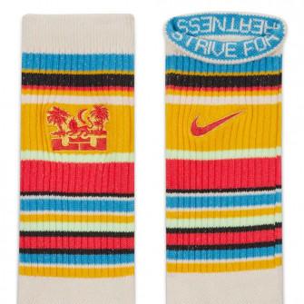Nike Lebron Everyday Crew Socks ''Pearl White/Fusion Red''